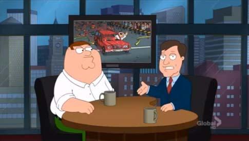 TV presenter cartoon copy