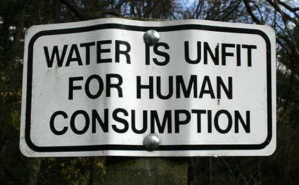 Besmet water